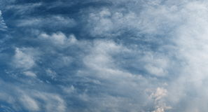 Beautiful under Stormy Sky with Dramatic Clouds Stock Photo