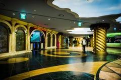 Beautiful underground path way - Lotte World Adventure stock image