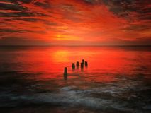 Beautiful. Unforgetable Atlantic sunsets Royalty Free Stock Photos
