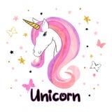 Beautiful unicorn vector illustration. Royalty Free Stock Photos