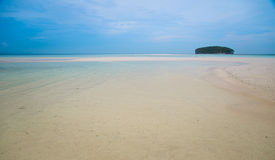 Beautiful uninhabited island in the ocean Royalty Free Stock Images