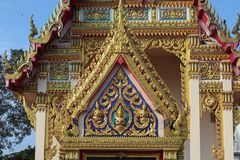 Beautiful and Unique Thai Buddha Temple stock photography
