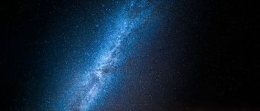 Beautiful universe and constellation with million stars at night. As background stock photography