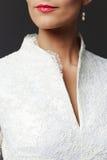 Beautiful unrecognizable bride Stock Images