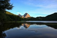 Beautiful untouched nature of the Norwegian Lakes, Norway Stock Image