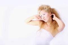 The beautiful and unusual girl Royalty Free Stock Photos