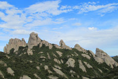Beautiful unusual shaped mountain rock formations of Montserrat, Spain Stock Photography