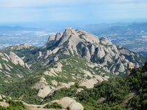 Beautiful unusual shaped mountains in Mont serrat, Spain Royalty Free Stock Photos