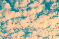 Beautiful unusual sky texture. small clouds tinted in pink color. Beautiful unusual sky texture. small clouds toned in pink color Royalty Free Stock Image