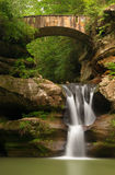 Beautiful Upper Falls at Old Man's Cave, Hocking Hills State Park, Ohio. Royalty Free Stock Photo