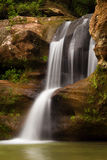 Beautiful Upper Falls at Old Man's Cave, Hocking Hills State Park, Ohio. Stock Photo