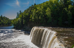 Beautiful upper Tahquamenon Falls in the Upper Peninsula of Mich Royalty Free Stock Photography