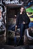 Beautiful urban girl Stock Photos