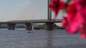 Beautiful urban river landscape, Ukraine,Beautiful urban river landscape Beautiful urban river landscape. Beautiful urban river landscape, Kiev, Ukraine stock footage