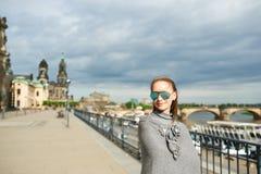 Beautiful urban woman in Dresden Stock Photos