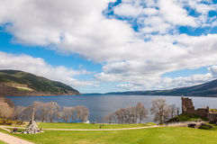 Beautiful Urquhart Castle in Scotland, Loch Ness Stock Photos