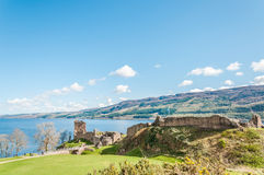 Beautiful Urquhart Castle in Scotland, Loch Ness Stock Photo