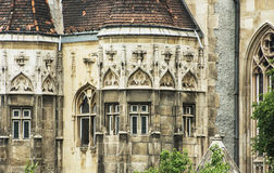 Beautiful Vajdahunyad castle in Budapest, Hungary, detail of arc Royalty Free Stock Photography