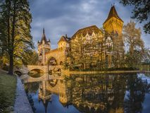 The Beautiful Vajdahunyad Castle In Budapest Hungary Pictures Reflection Royalty Free Stock Photo
