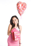 Beautiful valentine asian woman Stock Photo