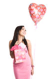 Beautiful valentine asian woman Stock Image