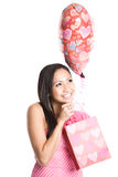 Beautiful valentine asian woman Royalty Free Stock Photo