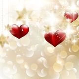 Beautiful valentine background with hearts. EPS 10 Royalty Free Stock Photo