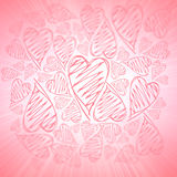 Beautiful valentine background with hearts Stock Photos