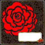 Beautiful valentine background with red rose. Royalty Free Stock Images