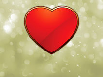 Beautiful valentine bokeh with red heart. EPS 8 Royalty Free Stock Photos