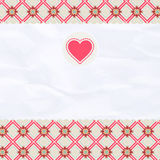 Beautiful valentine card with heart. EPS 8 Stock Photo