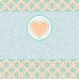Beautiful valentine card with heart. EPS 8 Royalty Free Stock Photos