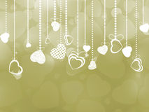 Beautiful valentine day card with hearts. EPS 8 Royalty Free Stock Photos