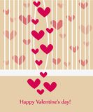 Beautiful valentine greeting card wiht hearts Royalty Free Stock Photography