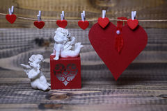 Beautiful valentine holiday composition Royalty Free Stock Images