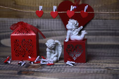 Beautiful valentine holiday composition Stock Images