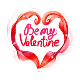 Beautiful Valentine's background with abstract color heart and t Stock Photo