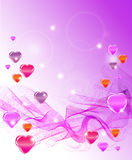 Beautiful Valentine's background with hearts Royalty Free Stock Images