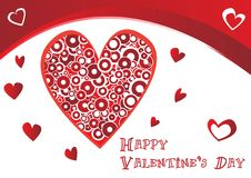 Beautiful valentine's  card Stock Photography