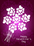 Beautiful Valentine's Day background with heart s Stock Photos