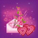 Beautiful  Valentine's  Day card Royalty Free Stock Images