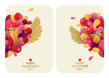 Beautiful Valentine's Day Cards design Stock Image