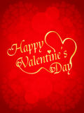 Beautiful valentine's day design on red backgroun Stock Images