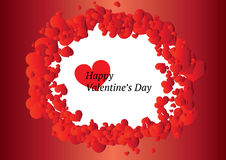 Beautiful Valentine's Day frame Stock Images