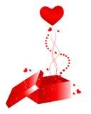 Beautiful Valentine's Day giftbox Royalty Free Stock Image