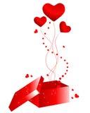 Beautiful Valentine's Day giftbox Stock Photos