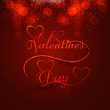Beautiful valentines day heart stylish text design Stock Photo