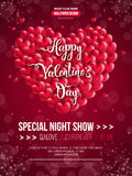 Beautiful Valentine`s Day invitation card design Royalty Free Stock Images