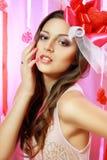 Beautiful Valentine woman Royalty Free Stock Photo