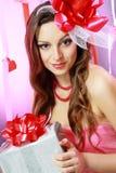 Beautiful Valentine woman Stock Image